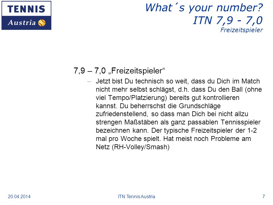 20.04.2014ITN Tennis Austria8 What´s your number.