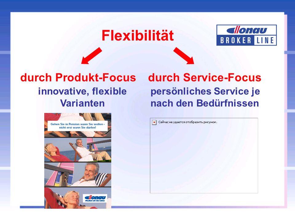 innovative, flexible Varianten durch Service-Focusdurch Produkt-Focus persönliches Service je nach den Bedürfnissen Flexibilität
