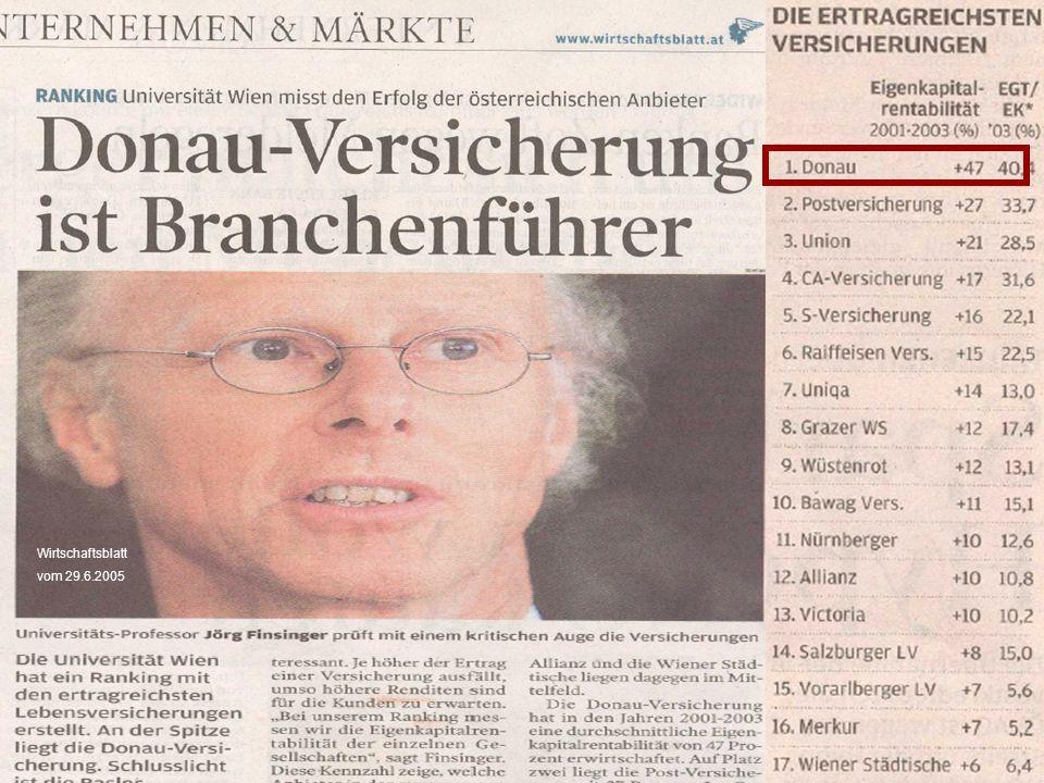 Wirtschaftsblatt vom 29.6.2005