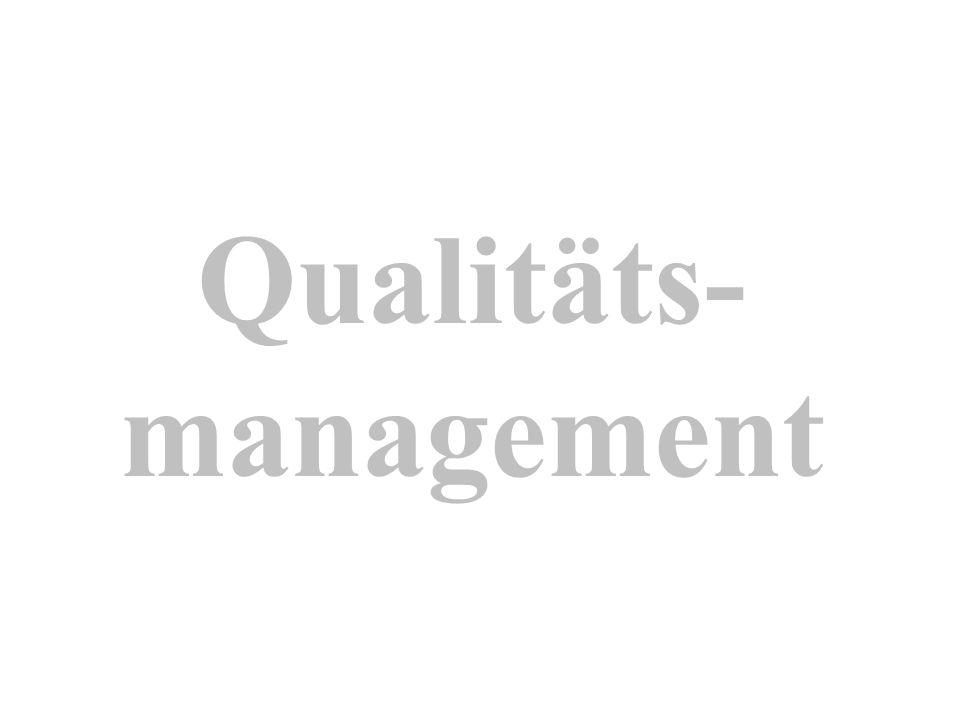 Qualitäts- management