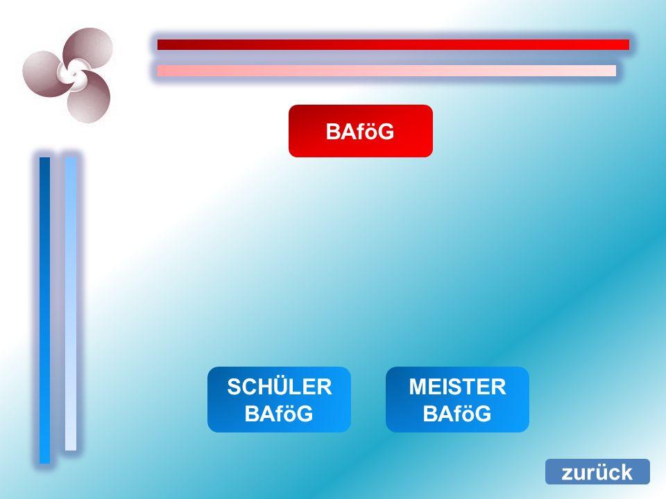 BAföG zurück SCHÜLER BAföG MEISTER BAföG
