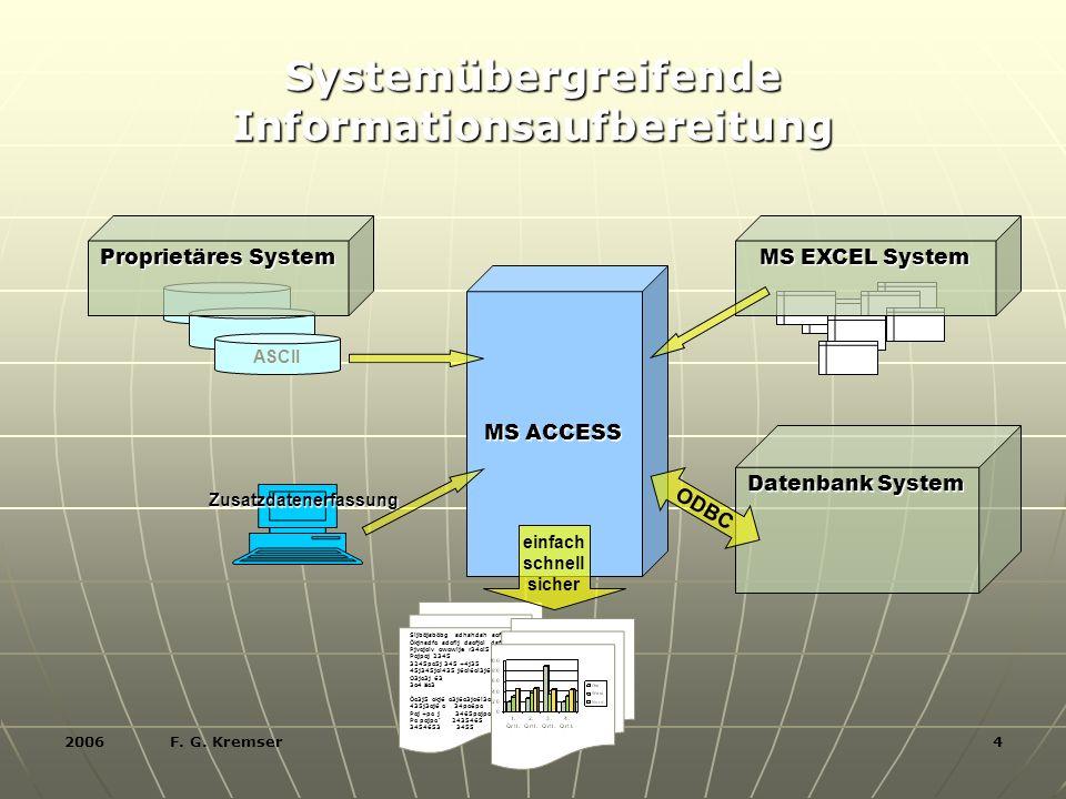 2006 F. G. Kremser 5 Systemübergreifende Informationsaufbereitung TRAINERPROFIL Georg Kremser