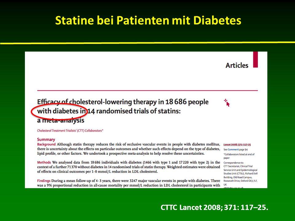 CTTC Lancet 2008; 371: 117–25. Statine bei Patienten mit Diabetes