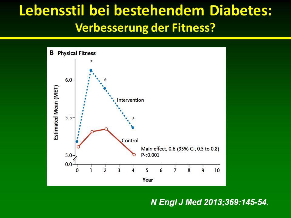 Lebensstil bei bestehendem Diabetes: Verbesserung der Fitness? N Engl J Med 2013;369:145-54.
