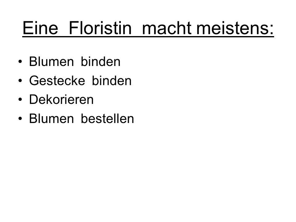 Mein Name ist Jessica O. Ich habe Praktikum im Blumen Linz gemacht Darüber kann ich euch folgendes berichten: