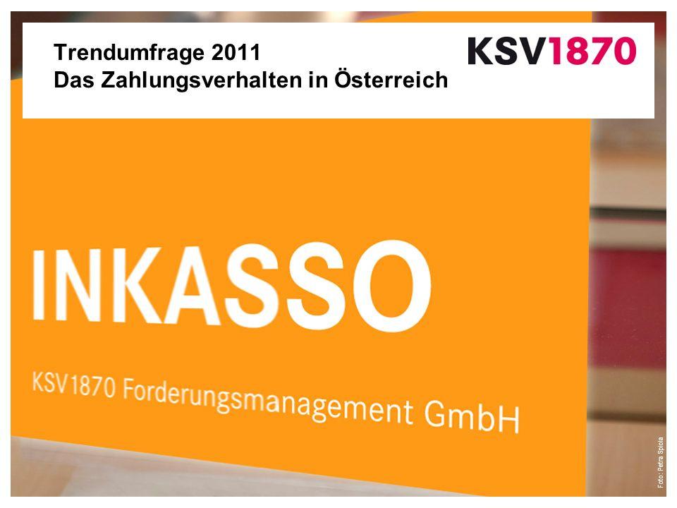 Foto: Petra Spiola Trendumfrage 2011 Das Zahlungsverhalten in Österreich
