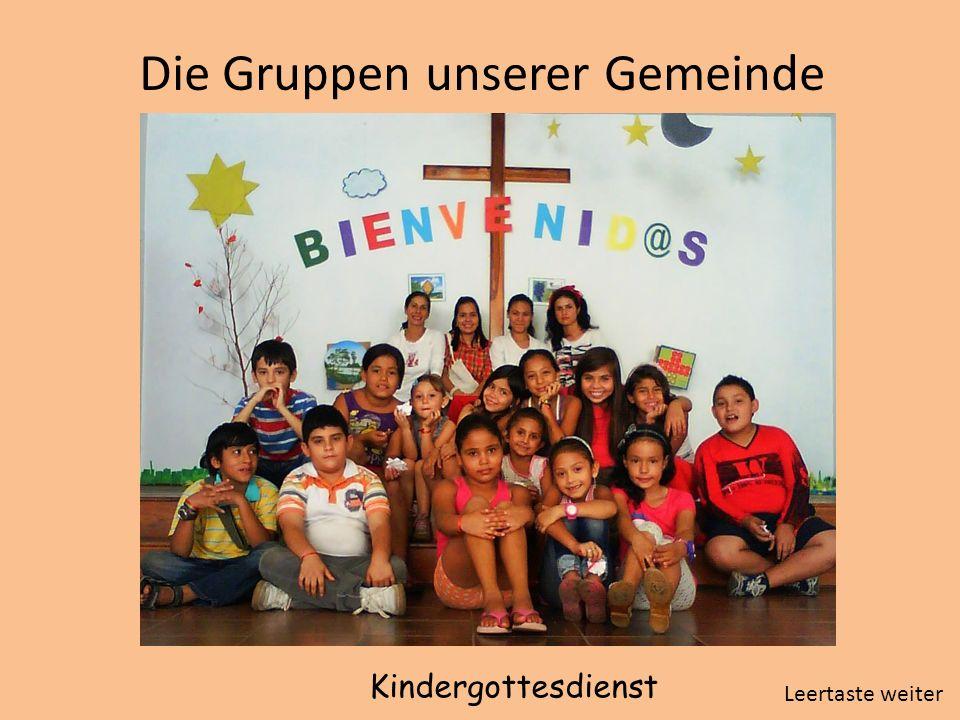 Die Gruppen unserer Gemeinde Kindergottesdienst Leertaste weiter