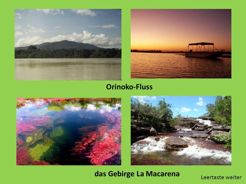 Orinoko-Fluss das Gebirge La Macarena Leertaste weiter