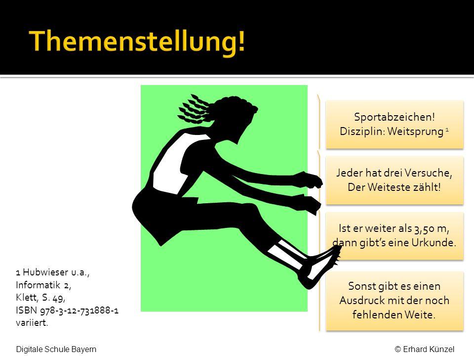 Sportabzeichen. Disziplin: Weitsprung 1 Sportabzeichen.