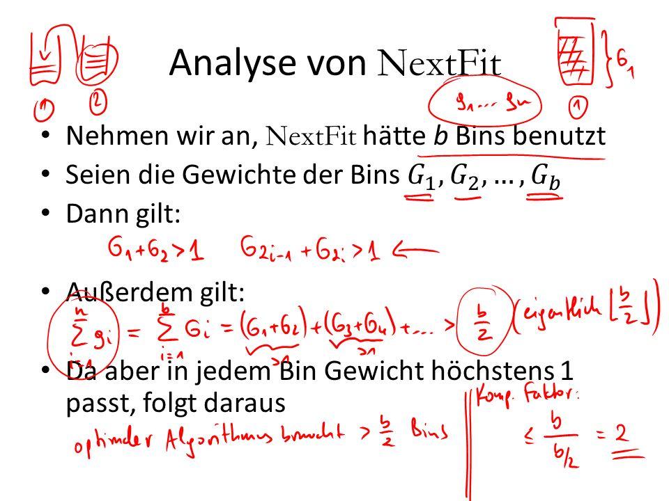 Analyse von NextFit