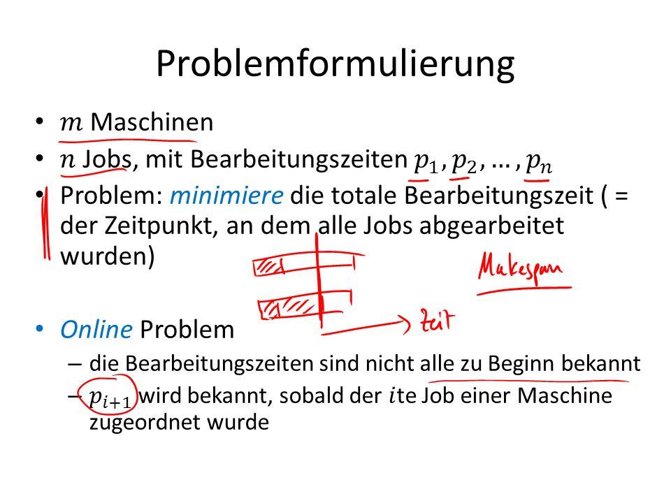 Problemformulierung
