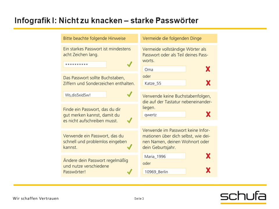 Infografik I: Nicht zu knacken – starke Passwörter Seite 3