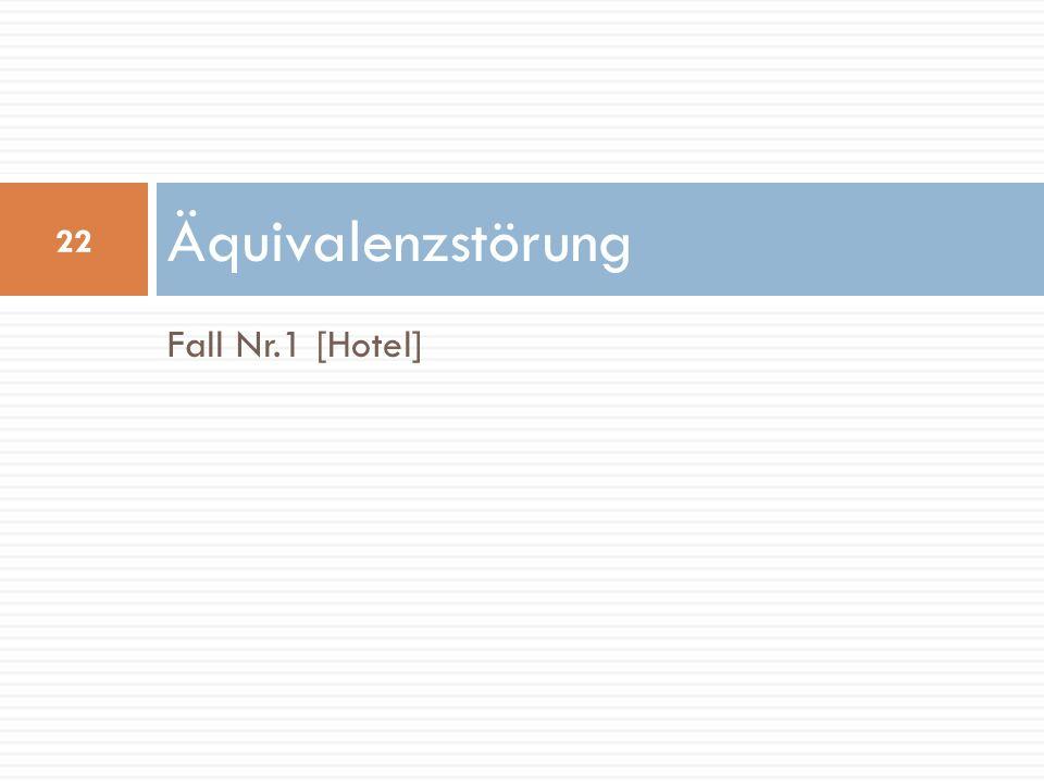 Fall Nr.1 [Hotel] Äquivalenzstörung 22