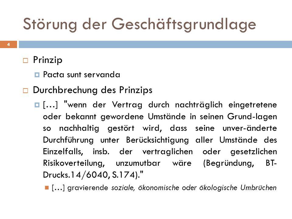 Störung der Geschäftsgrundlage 4 Prinzip Pacta sunt servanda Durchbrechung des Prinzips […]