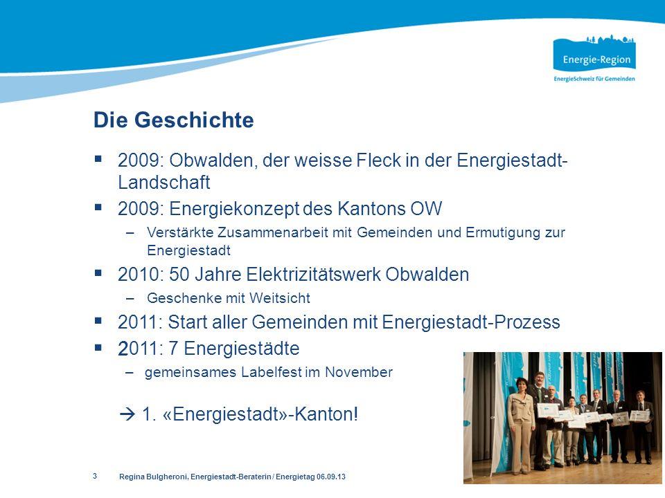 3 2009: Obwalden, der weisse Fleck in der Energiestadt- Landschaft 2009: Energiekonzept des Kantons OW –Verstärkte Zusammenarbeit mit Gemeinden und Er