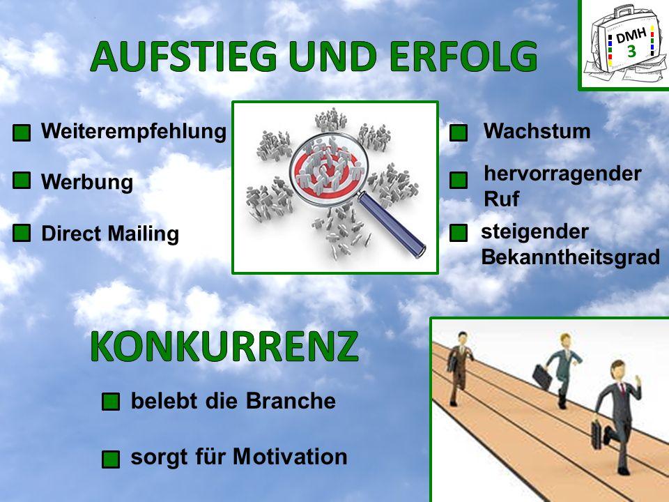 DMH 4 Weiteres Dienstleistungsangebot: UNTERNEHMENSBERATUNG weitere Mitarbeiter und Werksvertragsnehmer 2007 - 2012 zusätzlicher Standort in Lienz