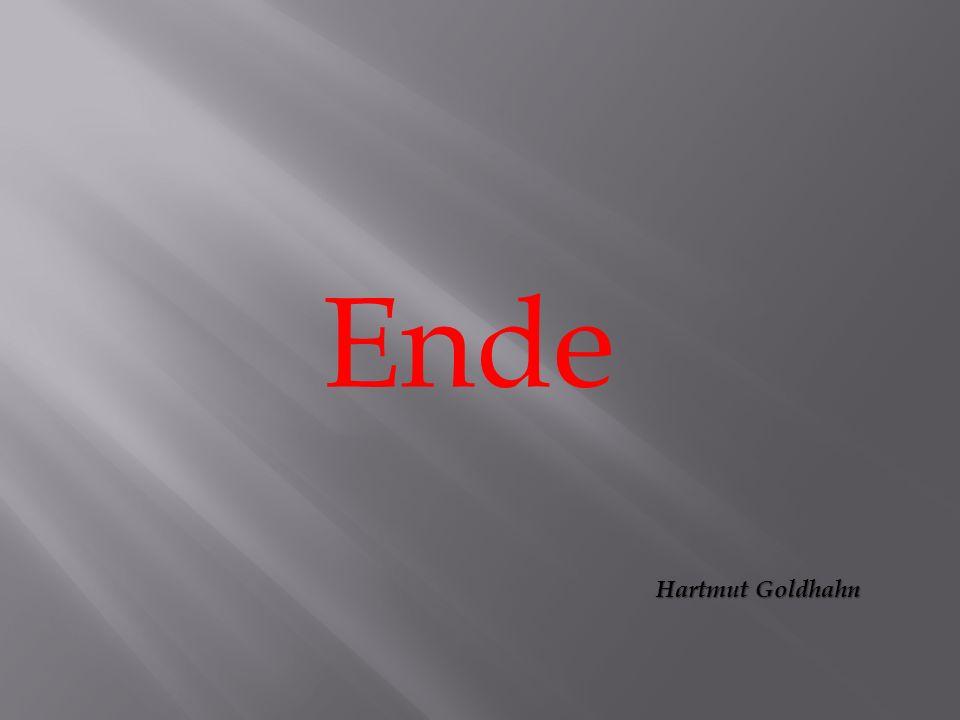 Ende Hartmut Goldhahn