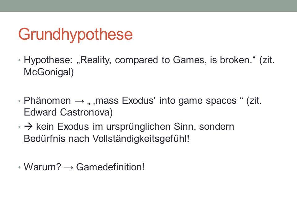 Definition eines Games Vier Charakteristiken: 1.