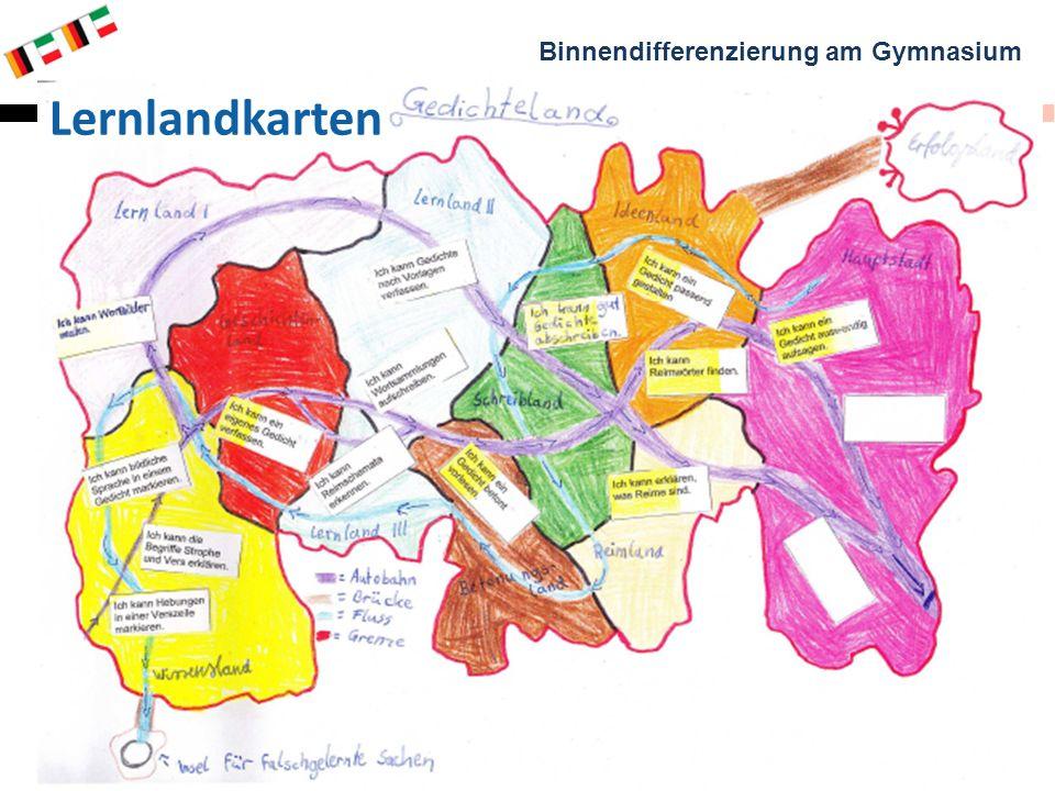 Binnendifferenzierung am Gymnasium Genua, 12. – 14. März 2012 Claus H. Brasch & Martina Propf 7 Lernlandkarten