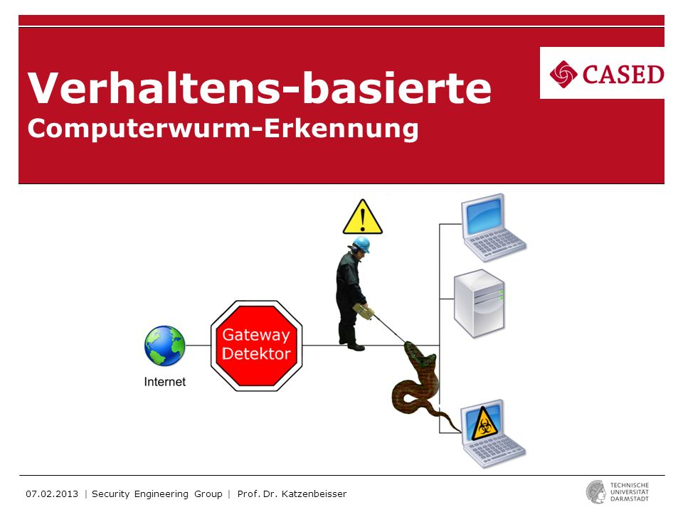 07.02.2013 | Security Engineering Group | Sebastian Funke | Verhaltens-basierte Computerwurm-Erkennung | 12 MRW (Multi Resolution Worm Detector): -Sekar et al.