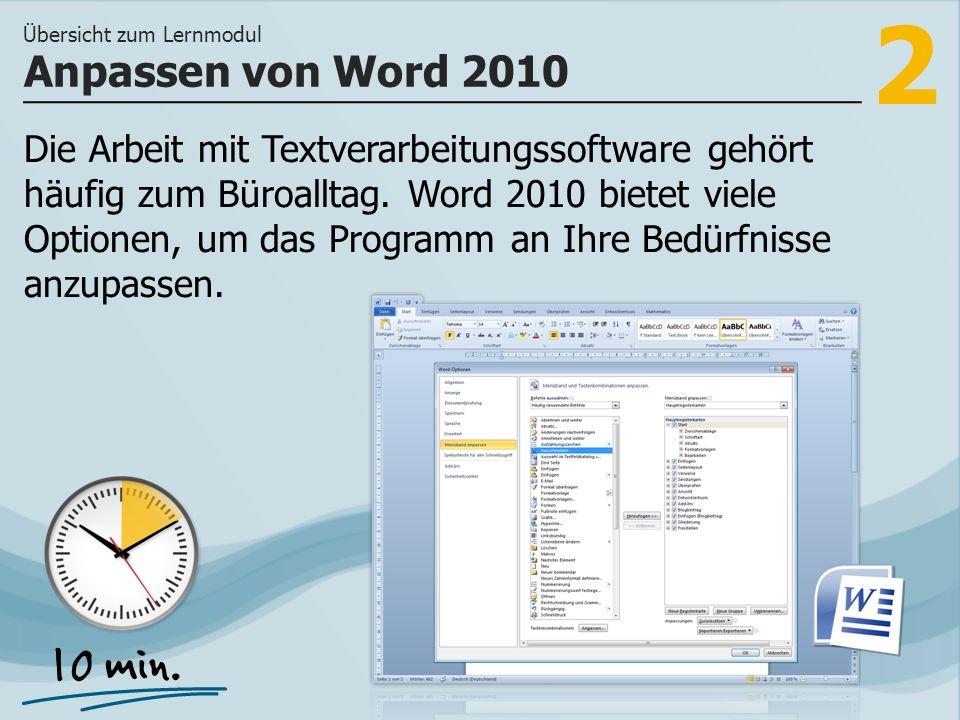 2 Die Arbeit mit Textverarbeitungssoftware gehört häufig zum Büroalltag.
