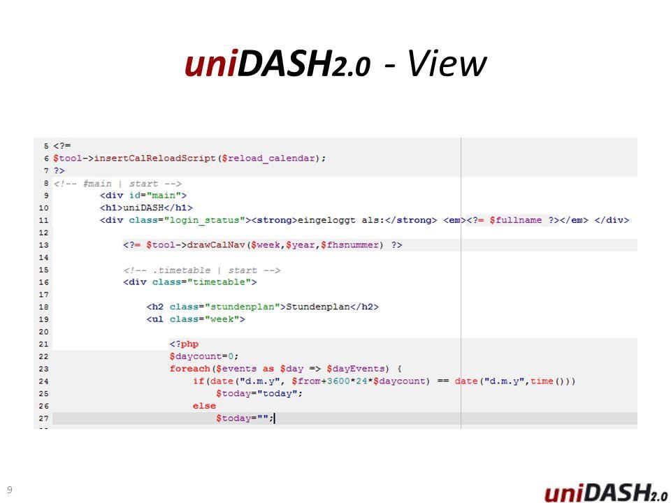 uniDASH 2.0 - View 9