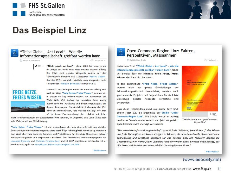 Das Beispiel Linz 11 (www.esociety.net)