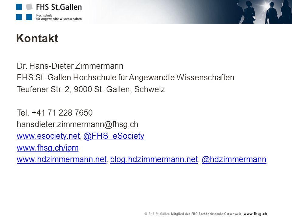 Kontakt Dr. Hans-Dieter Zimmermann FHS St.