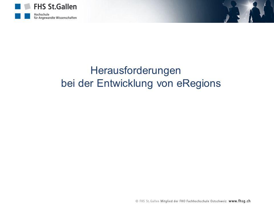 Herausforderungen bei der Entwicklung von eRegions