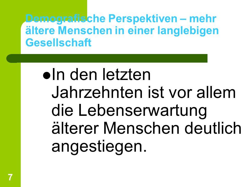 28 Wohnform und Wohnsituation älterer Menschen im Privathaushaltungen Ein Wohnortswechsel vor oder nach der Pensionierung ist für Schweizer Bürger und Bürgerinnen die Ausnahme.