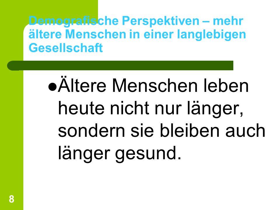 69 Folgerungen 12.Alterswohngemeinschaften sind in der Schweiz wenig verbreitet.