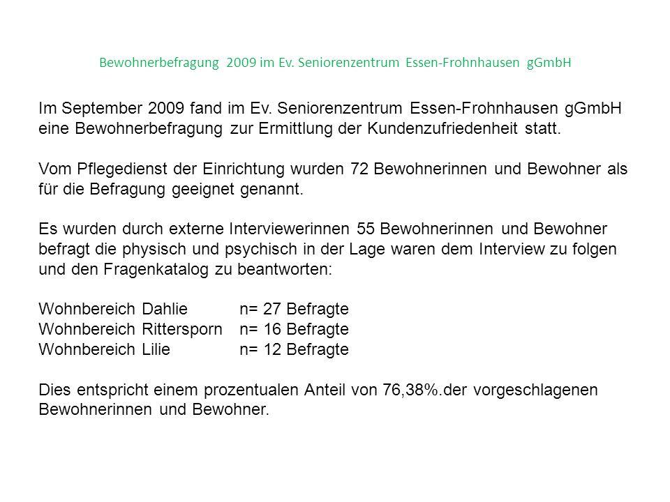 23 Bewohnerbefragung 2009 im Ev.