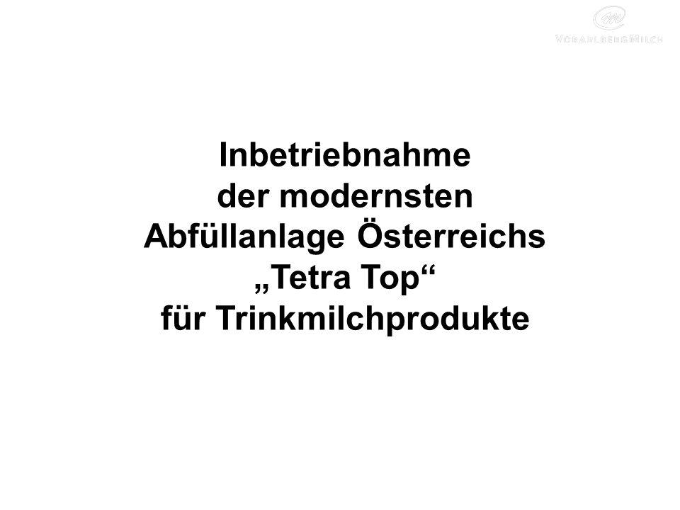 Inbetriebnahme der modernsten Abfüllanlage Österreichs Tetra Top für Trinkmilchprodukte
