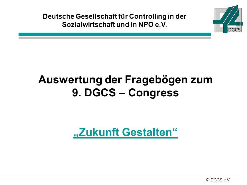© DGCS e.V.Deutsche Gesellschaft für Controlling in der Sozialwirtschaft und in NPO e.V.