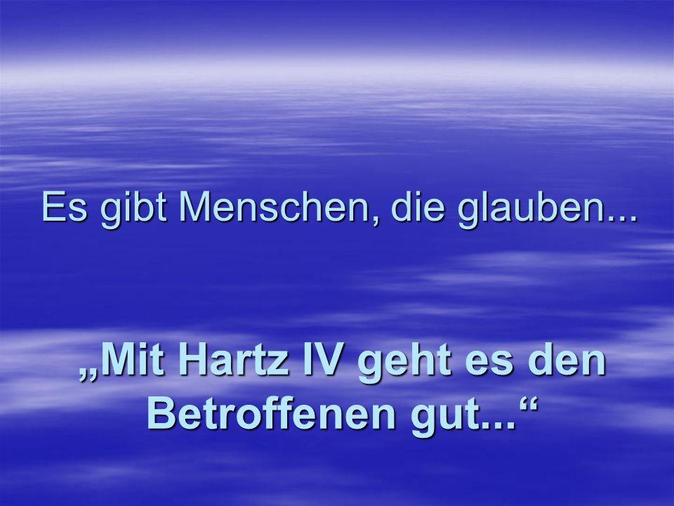Es gibt Menschen, die glauben... Es gibt keine armen Kinder in Deutschland...