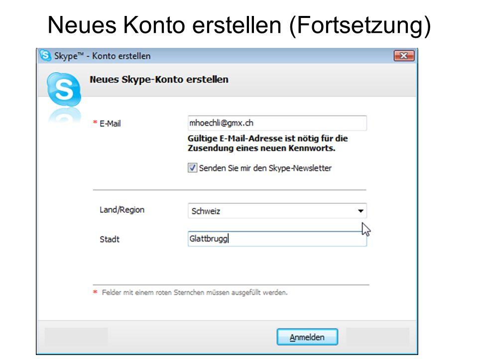 Kontrollfeld Skype-Name Menü-Leiste Wahl-Tasten Anruf-Name Kontakt-Liste Telefon grün -> verbinden rot -> auflegen