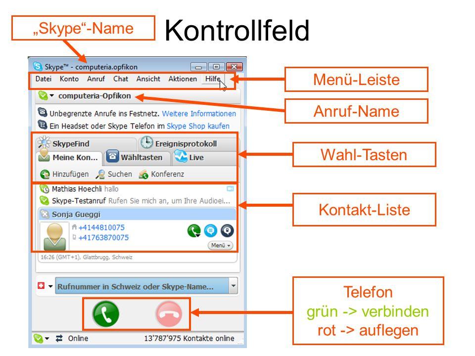 Kontrollfeld-Detail Guthaben für Festnetz- u.