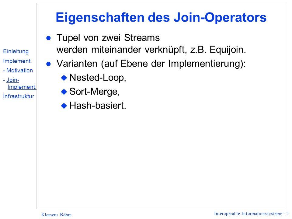 Interoperable Informationssysteme - 16 Klemens Böhm CORBA - Architektur Server Source Client Server Source Server Source ORB Einleitung Implement.
