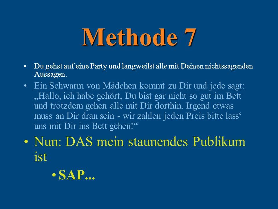 Methode 7 Du gehst auf eine Party und langweilst alle mit Deinen nichtssagenden Aussagen.