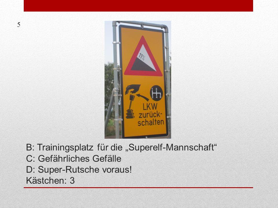 A: Froschtreffpunkt in 8 km B: Baustellenende in 8 km C: Reisekrankensammelstelle in 8 km Kästchen: 6 6