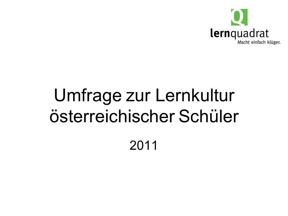 Umfrage zur Lernkultur österreichischer Schüler 2011