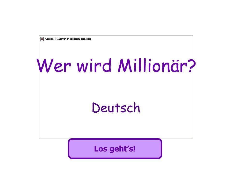 Wer wird Millionär? Deutsch Los gehts!
