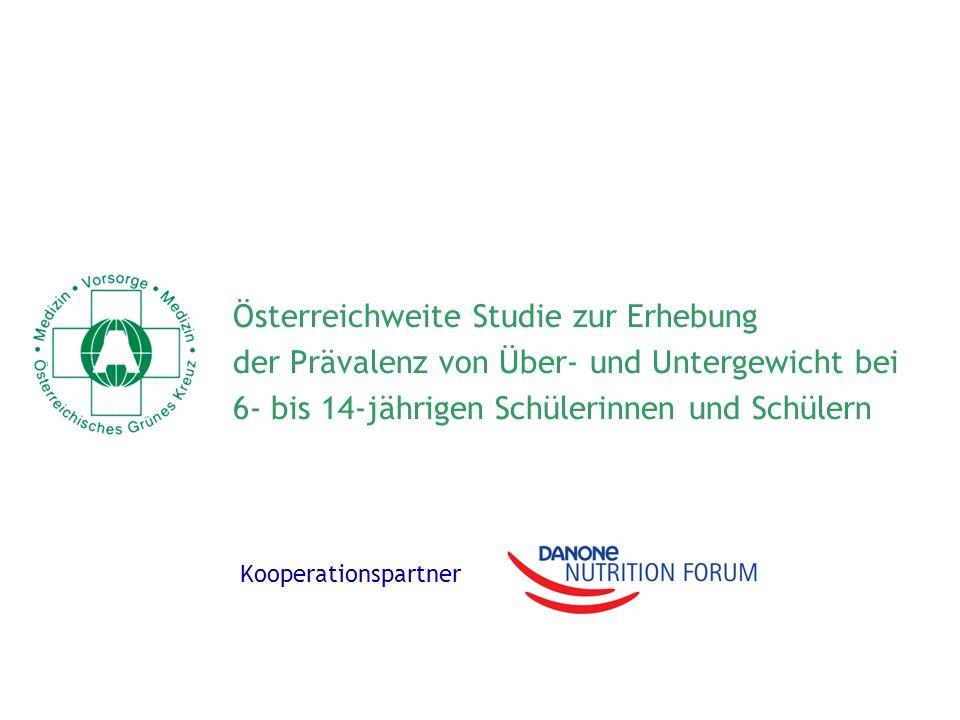 Österreichweite Studie zur Erhebung der Prävalenz von Über- und Untergewicht bei 6- bis 14-jährigen Schülerinnen und Schülern Kooperationspartner