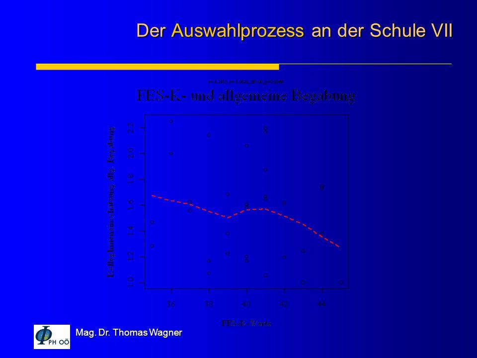 Mag. Dr. Thomas Wagner Der Auswahlprozess an der Schule VII