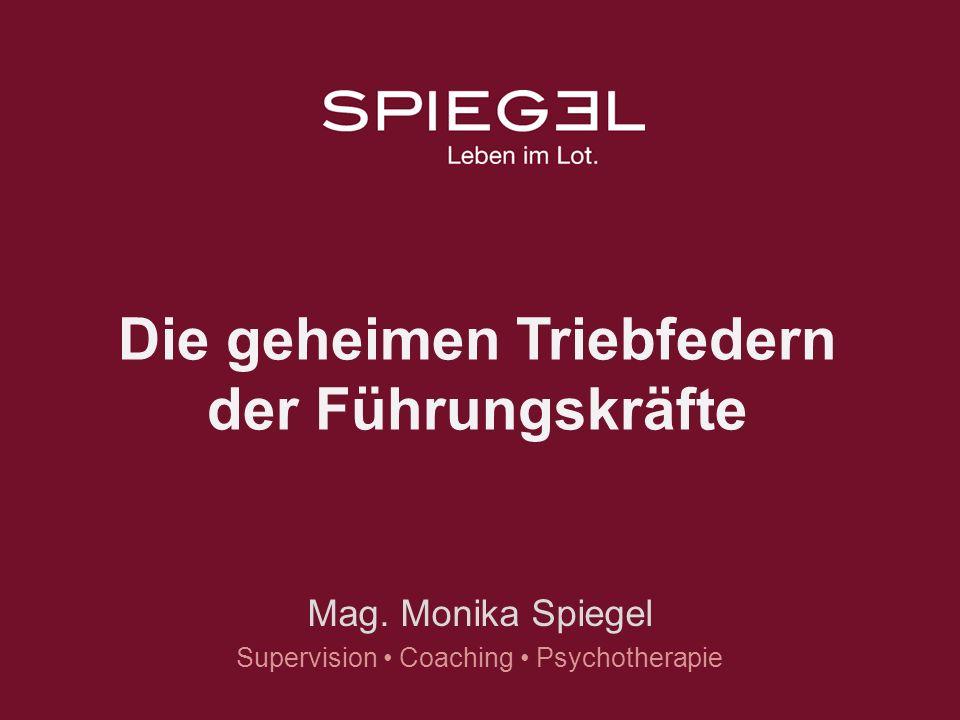 www.lebenimlot.at Die geheimen Triebfedern der Führungskräfte Mag. Monika Spiegel Supervision Coaching Psychotherapie