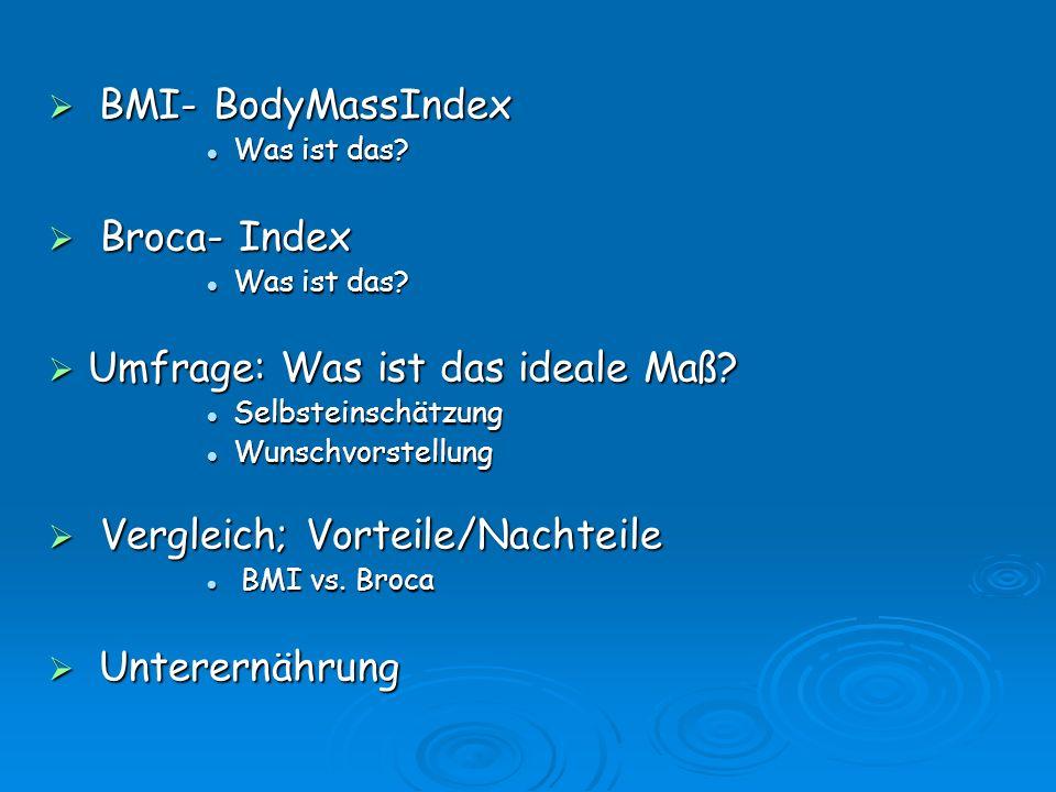 BMI- BodyMassIndex BMI- BodyMassIndex Was ist das.