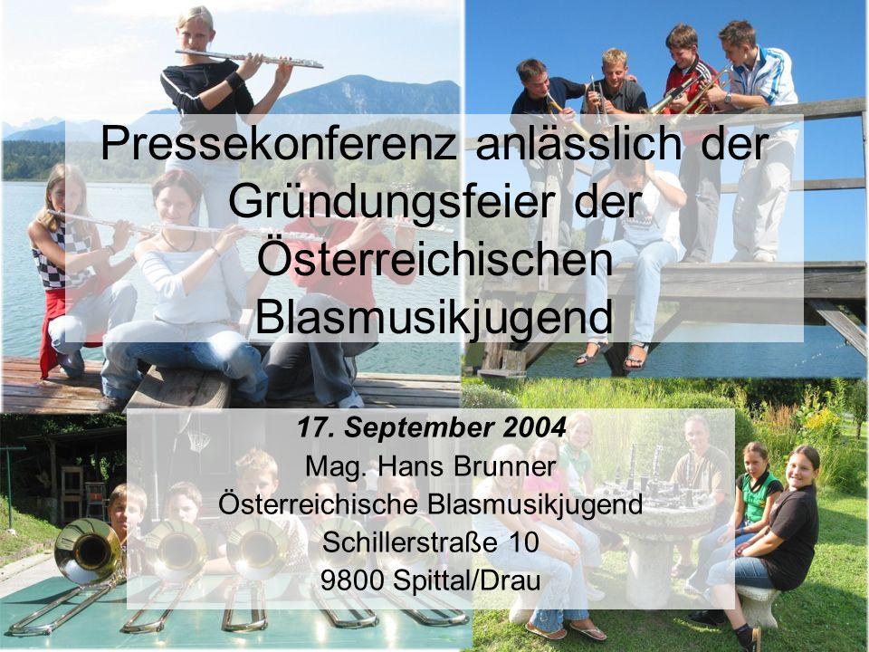 Pressekonferenz anlässlich der Gründungsfeier der Österreichischen Blasmusikjugend 17.