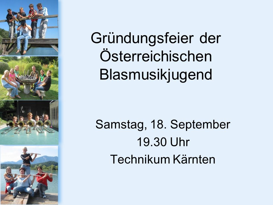 Gründungsfeier der Österreichischen Blasmusikjugend Samstag, 18.