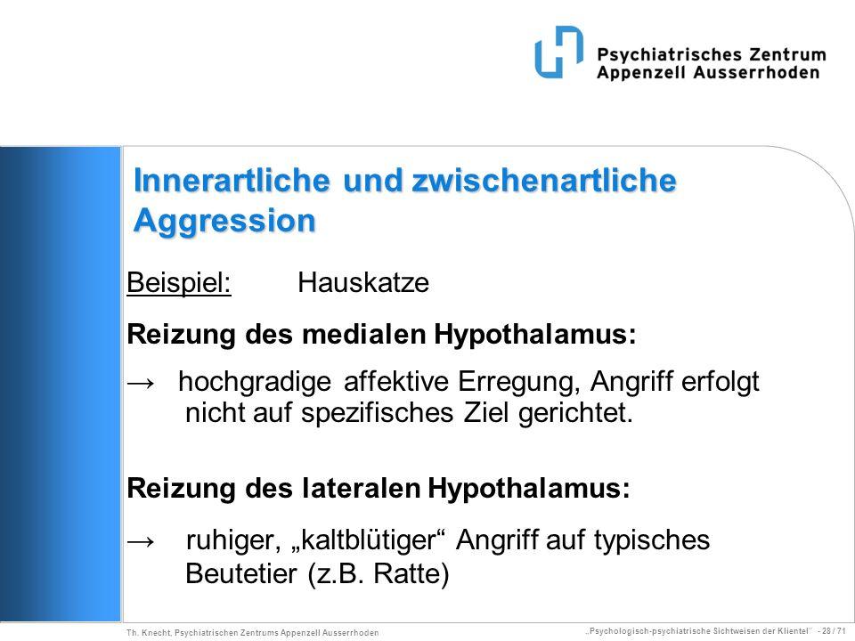 Psychologisch-psychiatrische Sichtweisen der Klientel - 28 / 71 Th. Knecht, Psychiatrischen Zentrums Appenzell Ausserrhoden Innerartliche und zwischen