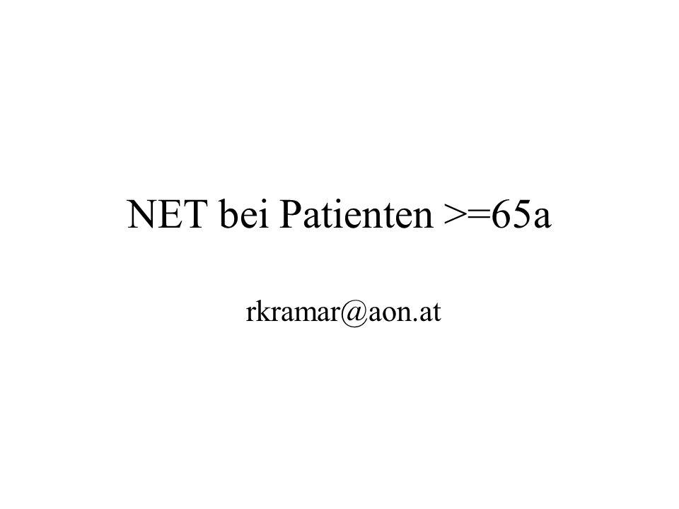 NET bei Patienten >=65a rkramar@aon.at